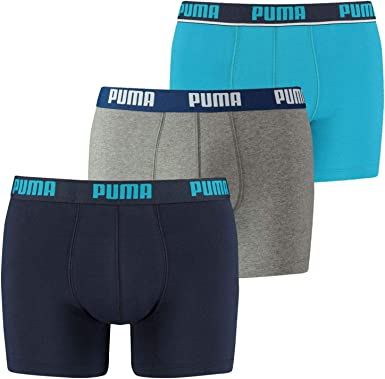 PUMA Promo Lot DE 3 Boxer Homme Culotte, Azul (Bleu 056), S (Pack de 3) para Hombre: Amazon.es: Ropa y accesorios