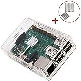 KuGi Raspberry Pi 3 Model B ケース + ヒートシンク ラズベリー・パイ 3 Model B 超小型パソコン 専用ケース + ヒートシンク Raspberry Pi 2 Model B & Pi Model B+ とも対応 クリア  ※Raspberry Pi 3 Model B 本体含まりません