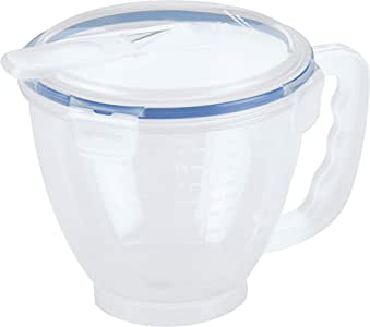 LOCK & LOCK HPL982 Easy Essentials Specialty Cup, 1-Liter Measuring Bowl 1L / 34oz, 1 Liter, Natural
