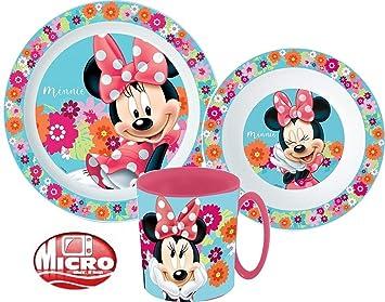 Disney MINNIE MAUS Kinder Set TELLER+SCHÜSSEL+BECHER Geschirrset *NEU*MELAMIN*