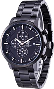Watch for Men by T5, Analog, Stainless Steel, Coloren, H3451G-C