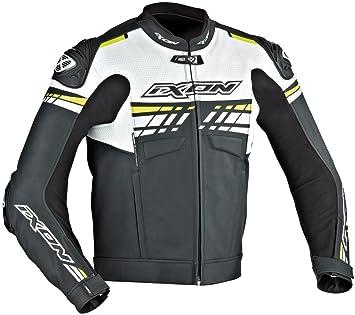 Ixon - Chaqueta Moto - Ixon Exocet, color negro/blanco/amarillo: Amazon.es: Coche y moto
