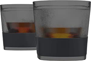 Host 2560 Old Fashioned Insulated Plastic Scotch Tumblers, 9 oz, Smoke Whiskey Glass-Set of 2