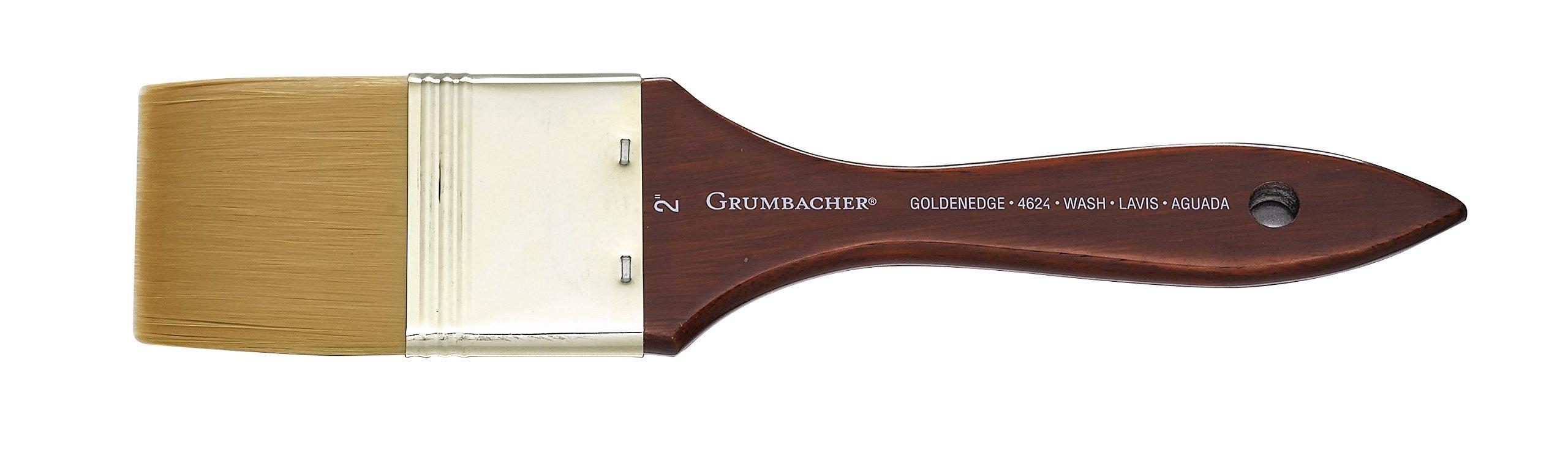 Chartpak Grumbacher Goldenedge Golden Toray Wash Watercolor Brush, Synthetic Bristles, Size 2'' (4624.200) by Chartpak