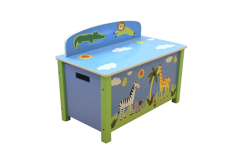 Liberty House Toys Safari Big Toy Box, Wood, Multi-Colour TF5005