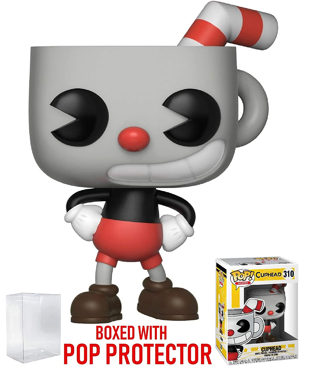 Games: Cuphead Funko Pop Cuphead Vinyl Figure Bundled with Pop Box Protector Case
