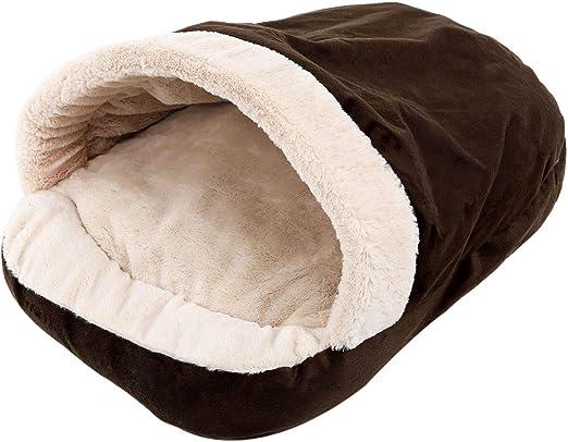 TOOGOO Nuevo Casa Cama para Gato Perro Suave Mascotas Es de Nido Calido de Invierno para Perros pequenos Bolsa de Dormir Residencia Canina para Chihuahua Teddy Marron: Amazon.es: Productos para mascotas