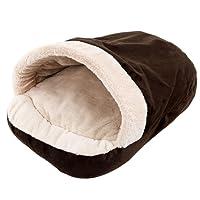 TOOGOO Nuovo Pet molle del cane del gatto Bed Casa inverno riscaldamento Mat nido per i piccoli cani Sacco a pelo Chihuahua Teddy Canili Marrone