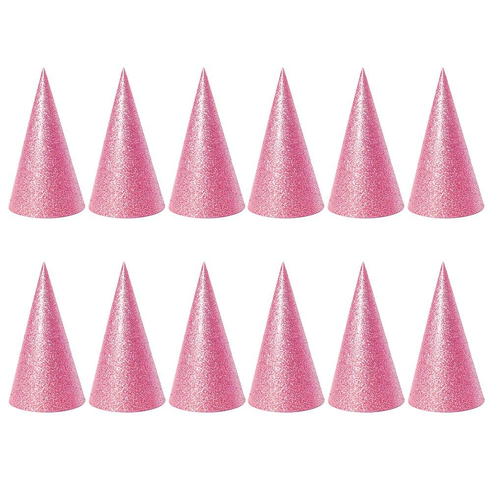 TOYMYTOY Cone Party Chapeaux Triangle Chapeaux d'anniversaire pour Party Favor, 6PCS (rose)