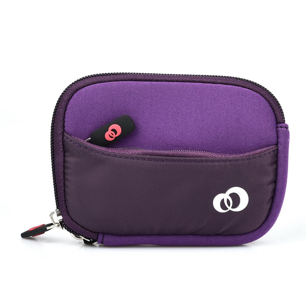 (S) Neoprene Travel Carrying Pouch with pocket fits Easypix V527 Diamond