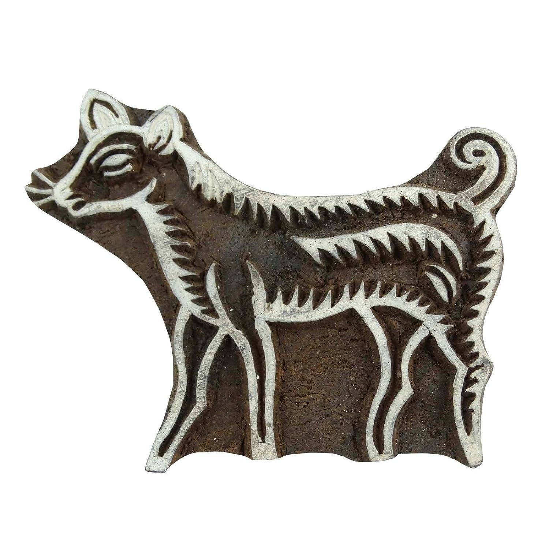 Holz Drucktype Indian Holz Braun Textile Briefmarken Dekorative Hand geschnitzte