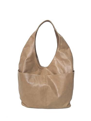 c3b148a2f8 Amazon.com  Fgalaze Large Distressed Camel Leather Hobo Bag w Pockets
