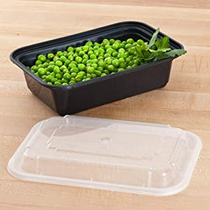 Pactiv [20 Sets] Meal Prep Containers with Lids, Food Storage, Take Out, Lunch Box, Portion Control, Microwave/Dishwasher/Freezer Safe, BPA Free, Factory Sealed, Made in USA (24 OZ - Medium)