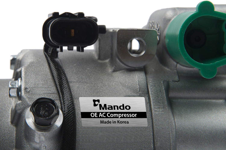 New Mando 10A1101 AC Compressor with Clutch Original Equipment Pre-filled Oil