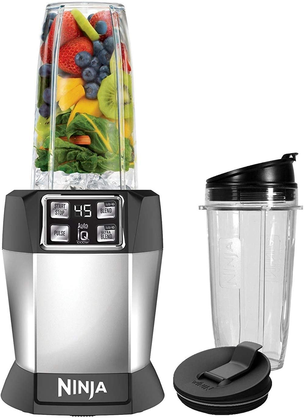 Nutri Ninja BL480D Auto-iQ Blender 1000 Watts, Black (Certified Refurbished)