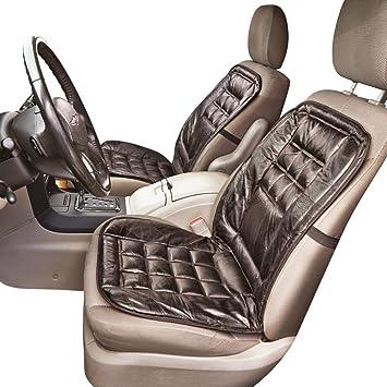 Amazon.com: Cojín de cuero para asiento de auto con ...