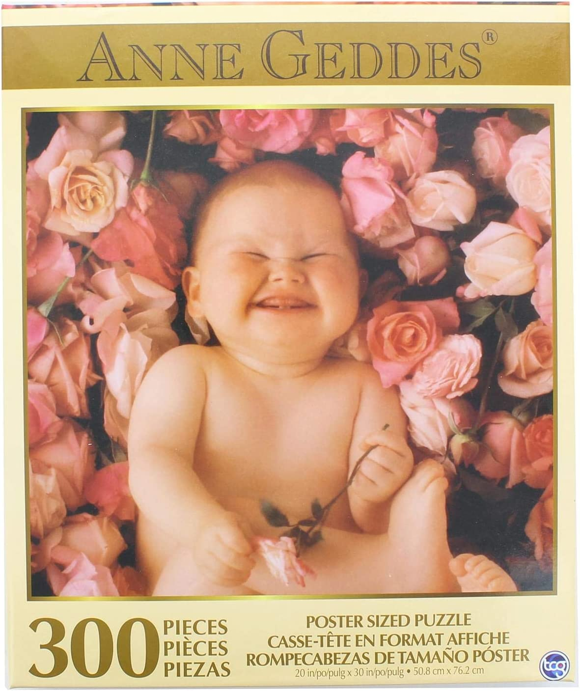"""Anne Geddes Baby in Roses 300 Piece Puzzle 20"""" X 30"""" Inches"""