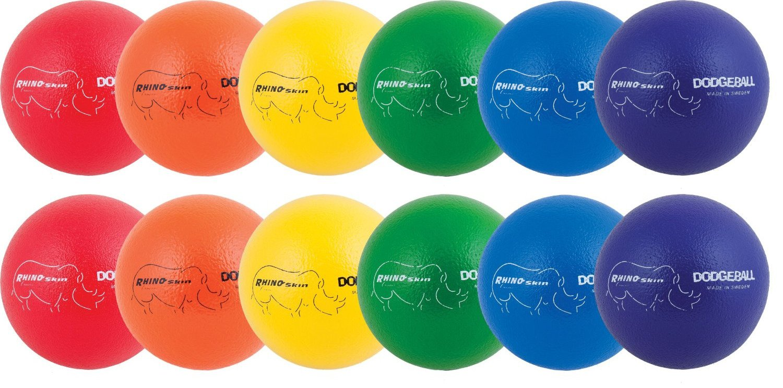 Champion Sports Rhino Skin Dodgeball - Set of 12