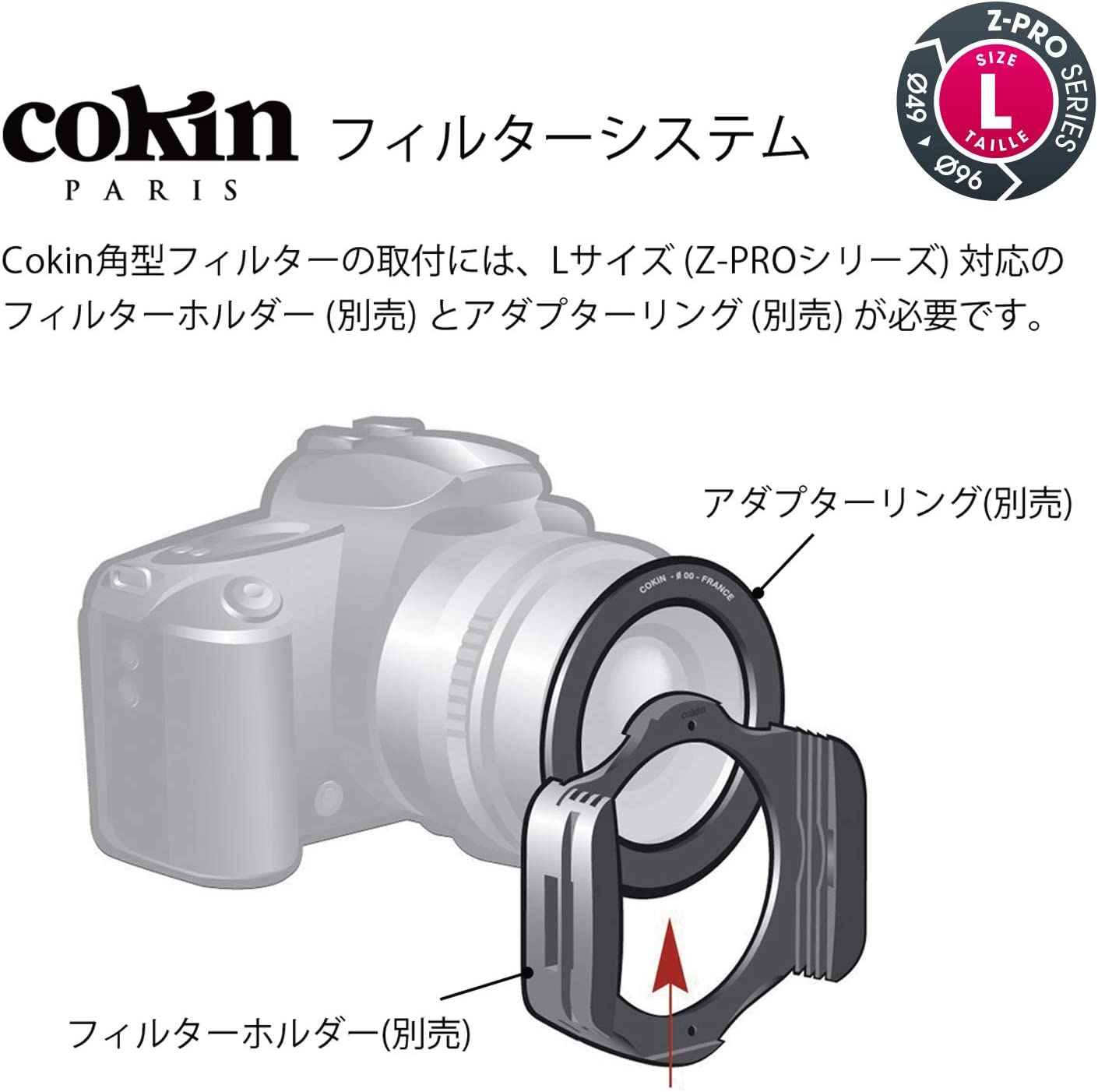 Cokin Square NUANCES Extreme Center Graduated ND8-3-Stops for L Z Holder