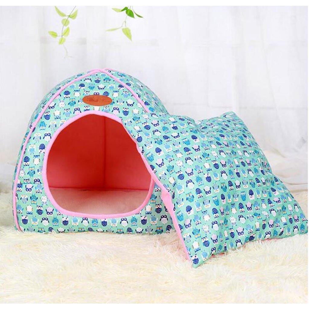 bluee M bluee M MM Beds Pet Nest Dog House Dog Bed Cat House Pet Products (color   bluee, Size   M)