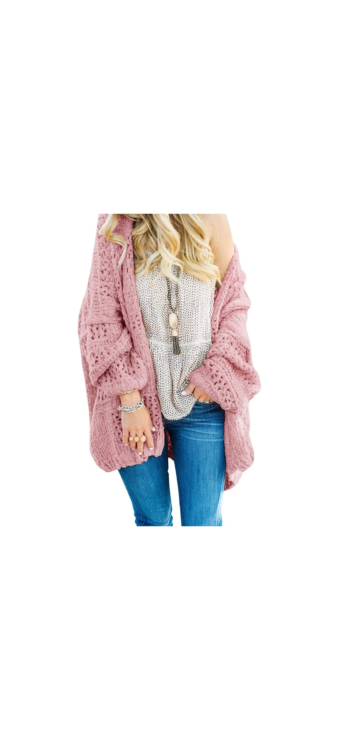 Women's Open Front Cardigan Long Boyfriend Oversized