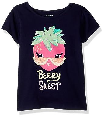 5479dca610f Amazon.com  Gymboree Baby Girls  Toddler Short Sleeve Glitter Food ...