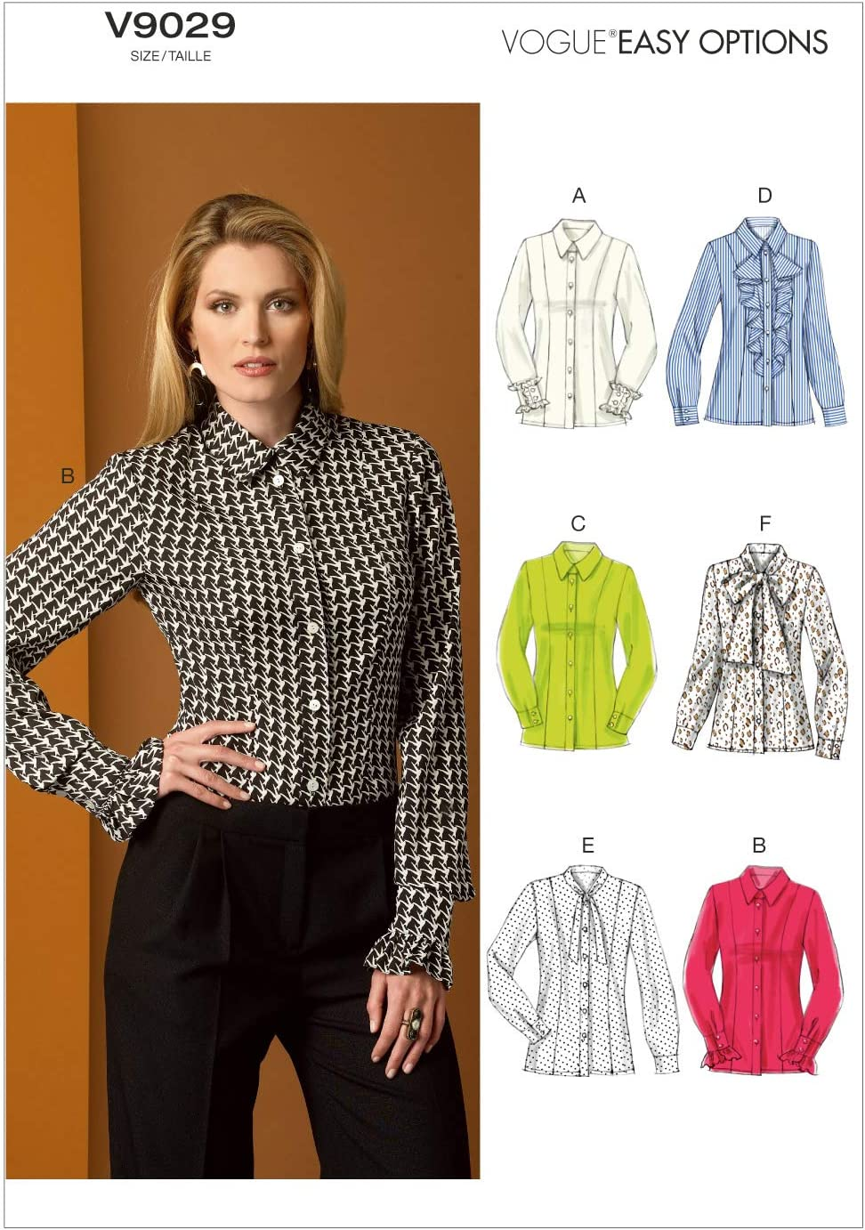 VOGUE PATTERNS V12 Misses' Blouse Sewing Template, Size B12 12 12 12 12 12