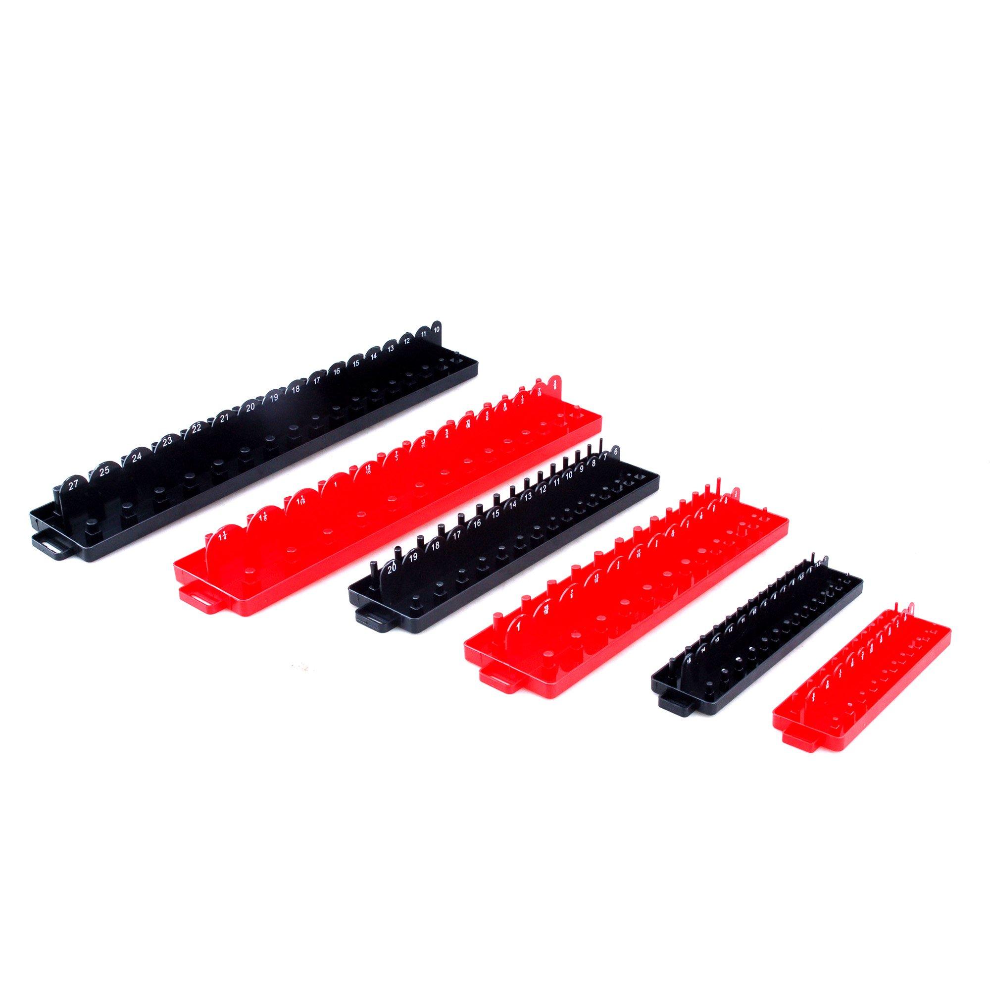 STEEL CORE 30113 6Pc Socket Tray/Organizer Set, SAE/Metric by STEEL CORE