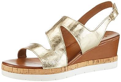 7904, Chaussures Compensées Femme, Doré, 37 EUInuovo