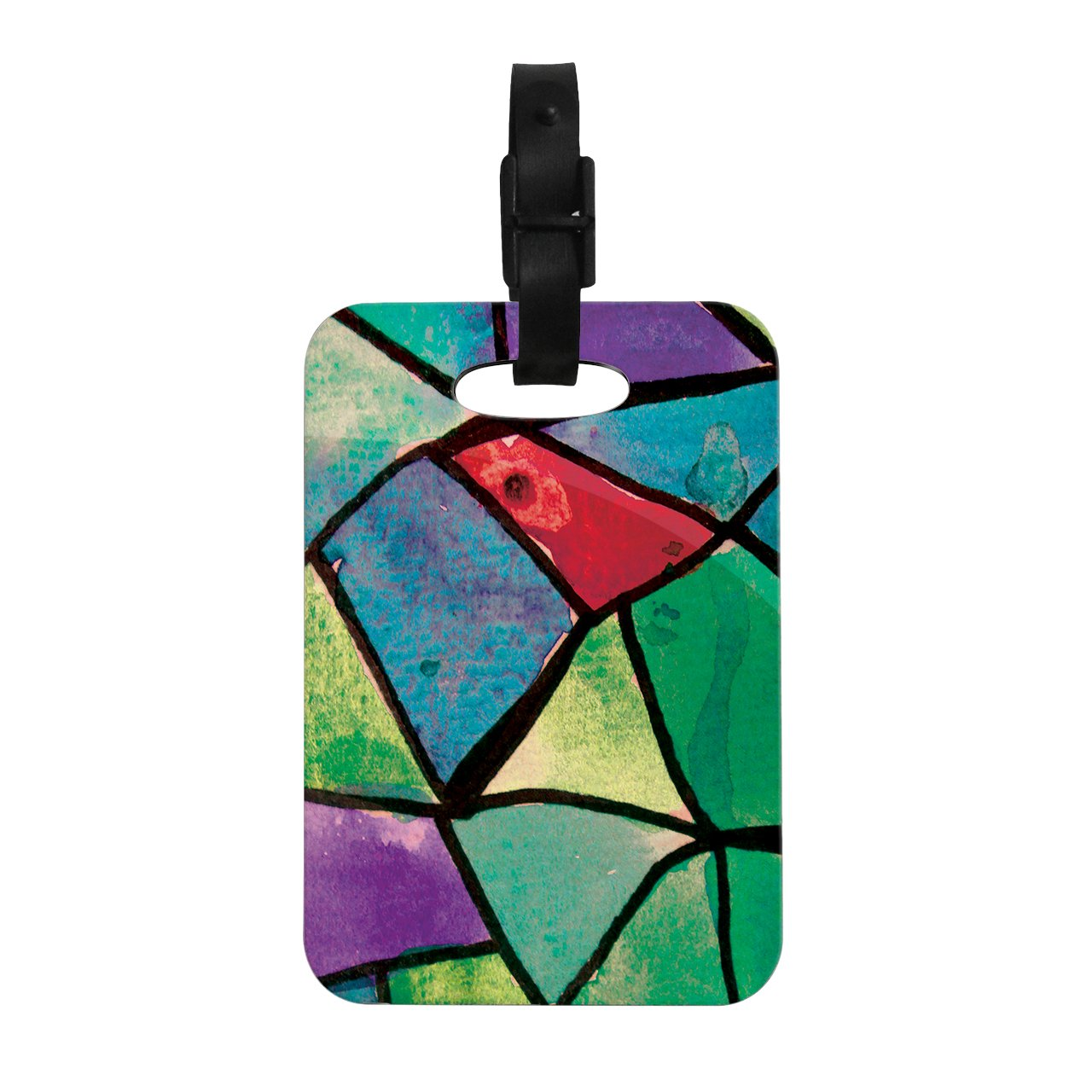 Kess InHouse Theresa Giolzetti Stain Glass 1'' Decorative Luggage Tag, 4 by 4-Inch