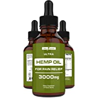 Hemp Oil for Pain Relief (3000mg - 120 Servings) Hemp Extract w/Anxiety Relief,...