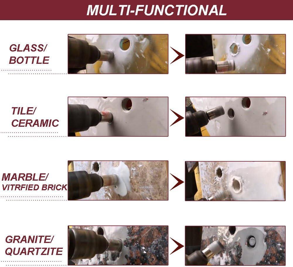 porcelana 6-100 mm m/ármol TOOLSTAR brocas de sierra perforadora para cer/ámica rojo granito con revestimiento de diamante Brocas de diamante para taladro n/úcleo hueco vidrio