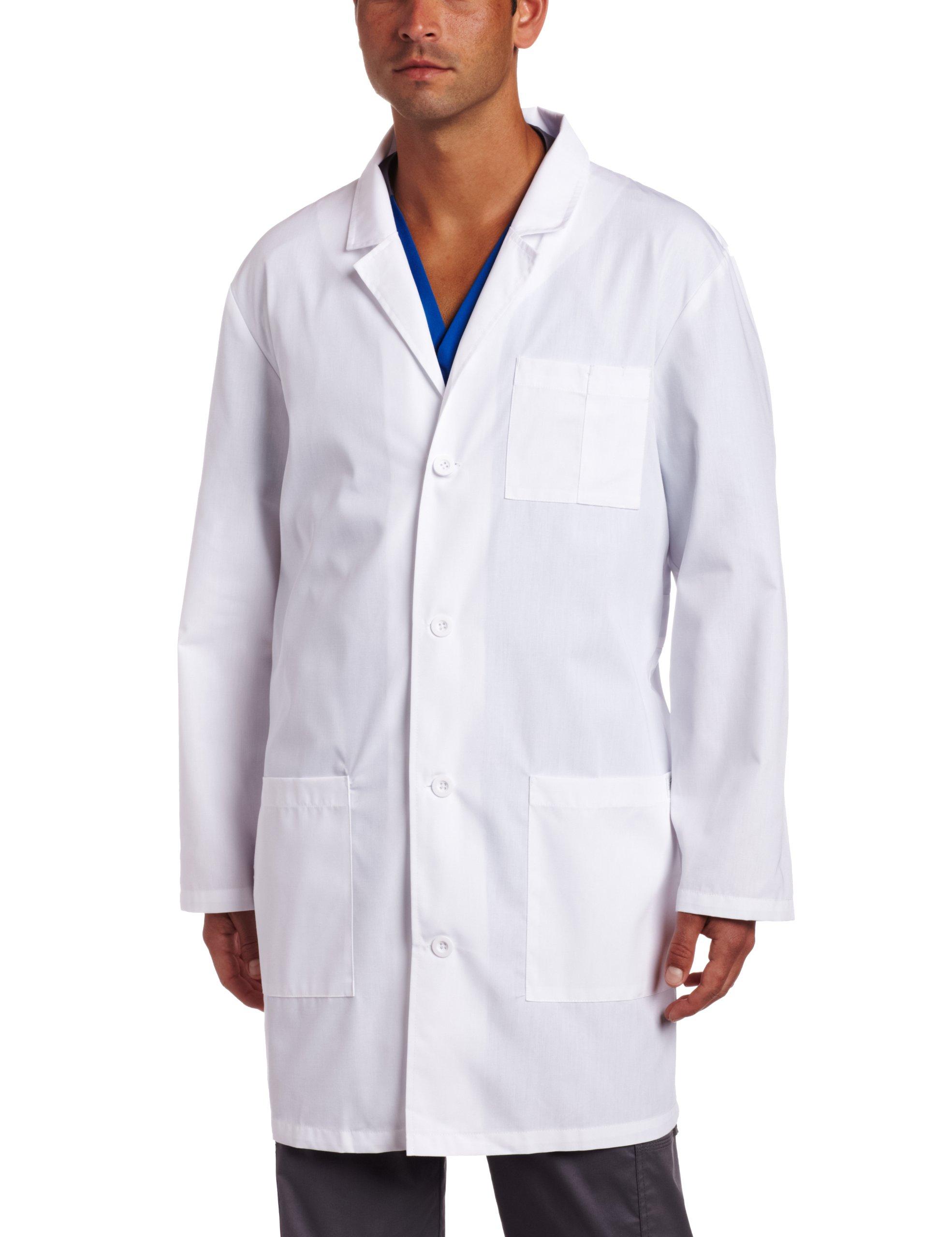 Dickies Everyday Scrubs Unisex 37 Inch Lab Coat,White,Medium