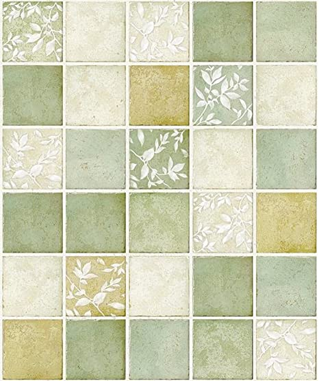 Amazon.com: Verde Multi Color Mosaico el patrón Contacto ...