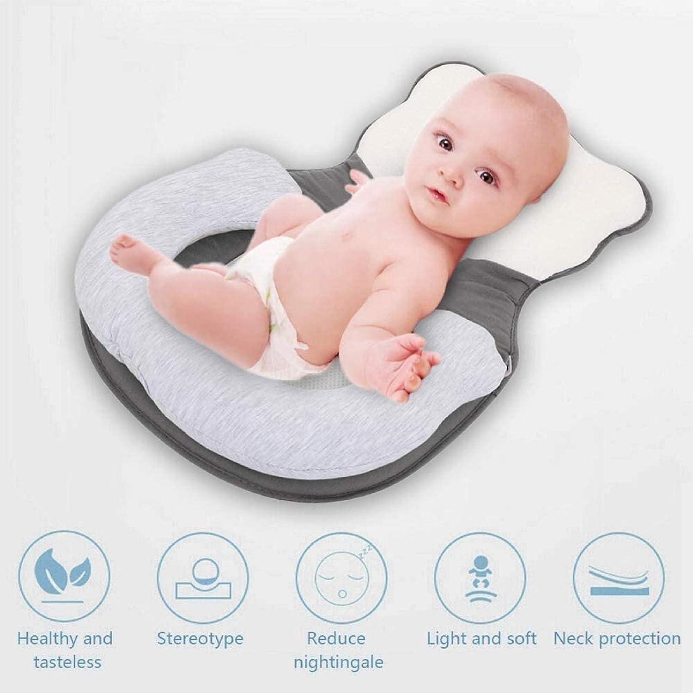 Pillows Lounger Unisex Infant Support Newborn,Correct Anti-Eccentric Head Baby Pillow,Positioning Pillow Baby Cushion Cute Little Bear Baby Support Recliner Pillow,Comfortable Newborn Baby Rest