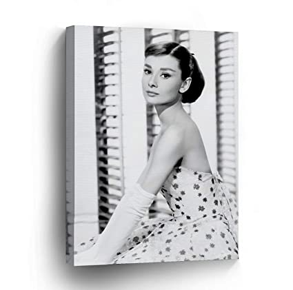 Amazon.com: Van Eyck Audrey Hepburn Canvas print Wall Art for Living ...