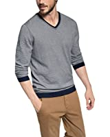 edc by ESPRIT Herren Pullover Slim Fit, Gestreift