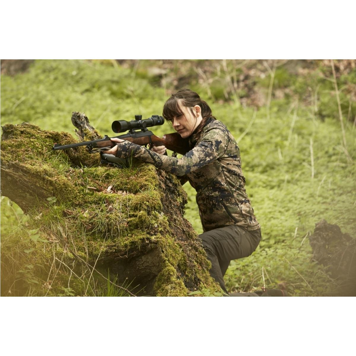 Härkila Crome Lady Fleece Jacket Optifade Ground Forest Jagdjacke Camouflage