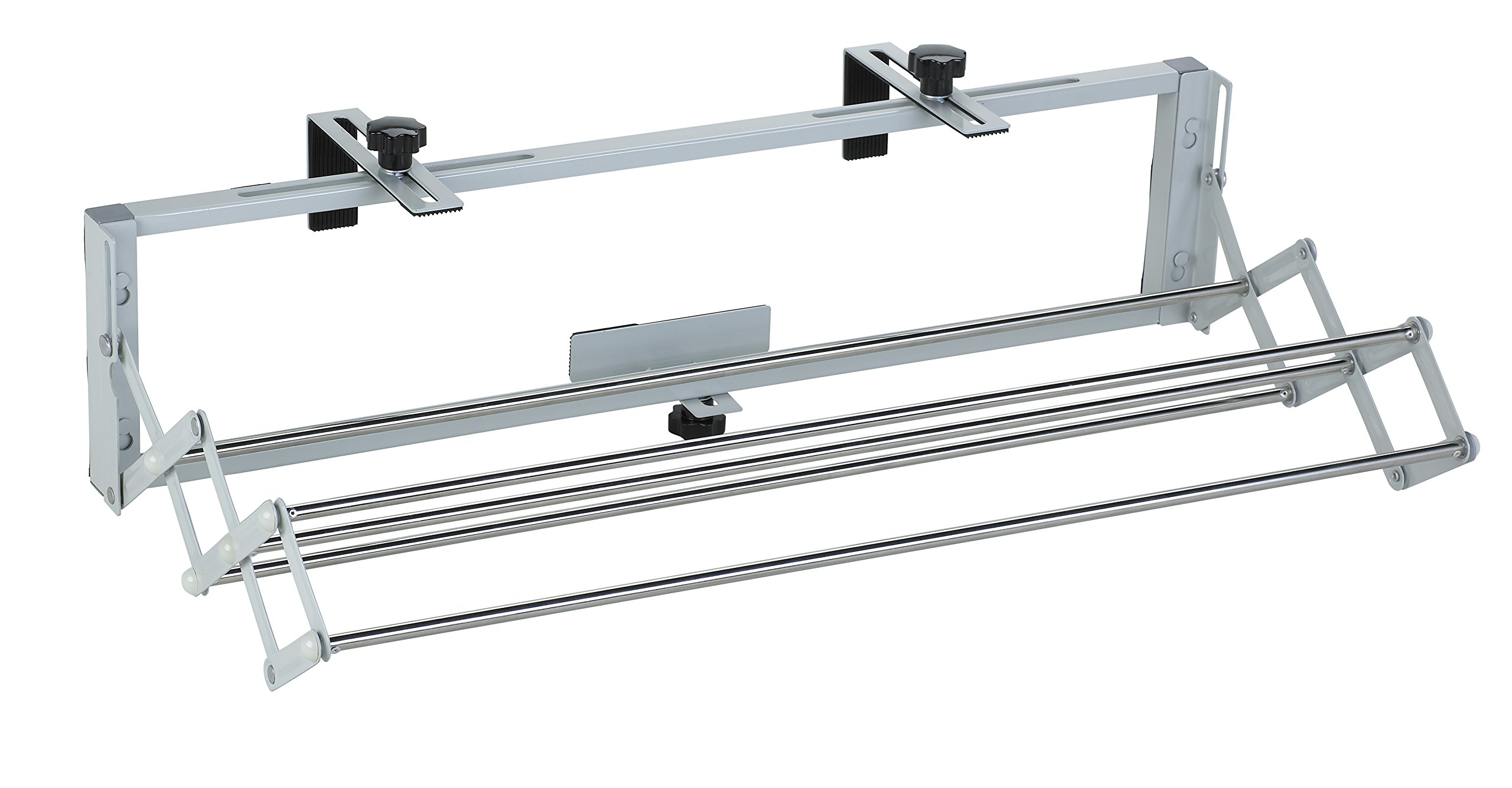 The Original Smartdryer Indoor/Outdoor Retractable Clothes Drying Rack - Ideal for Your RV, Balcony, Pool Side or Laundry Room - Compact Version - 31 Inch - VERSATILE: For outdoor use on balconies, ramps, fences and any type of recreational vehicles but as well for Indoor use, wall mounted if desired RETRACTABLE = Space saver EASY TO INSTALL: Unique patented easy to install grips that can be adjusted in length and width to fit on any type of balcony, ramp, RV ladder - laundry-room, entryway-laundry-room, drying-racks - 71iOp%2BeYs%2BL -