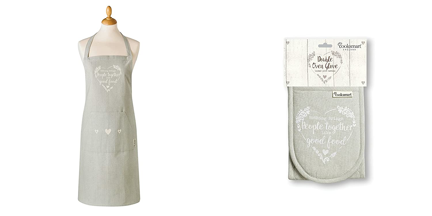 Cooksmart Food for thought Apron and Oven Glove set Mals