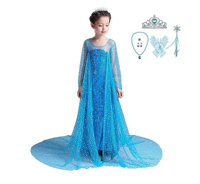 Amazon.com: Lito Angels - Vestido de princesa Elsa, vestido ...