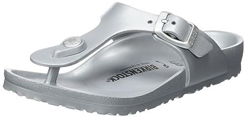 e486ae93e Birkenstock Kids Gizeh EVA - Metallic Silver 1003497 Childrens Sandals 30  EU C