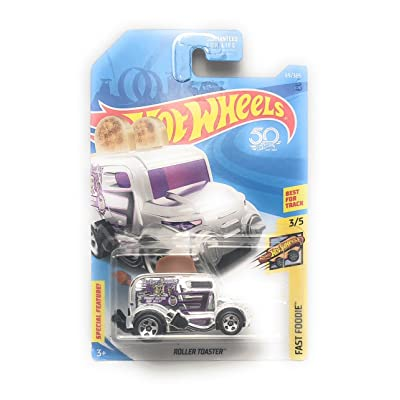 Hot Wheels 2020 50th Anniversary Fast Foodie Roller Toaster (Toaster Car) 69/365, Chrome: Toys & Games