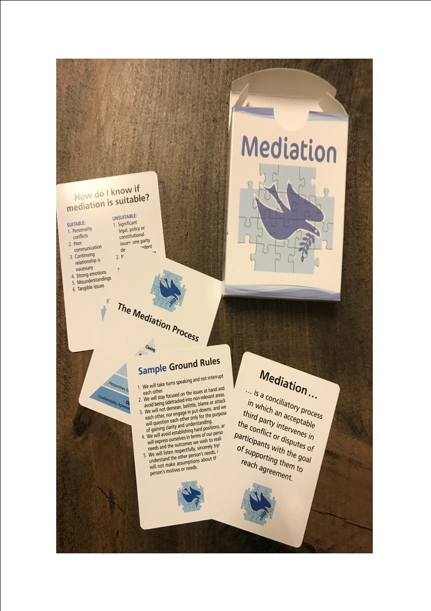 John Ford Mediation Flash Cards for Conflict Resolution in the Workplace