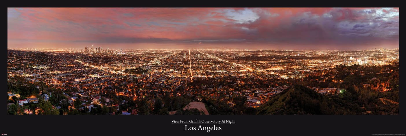 Los Angeles - Griffith Observatory - Türposter XXL-Poster Foto Los ...