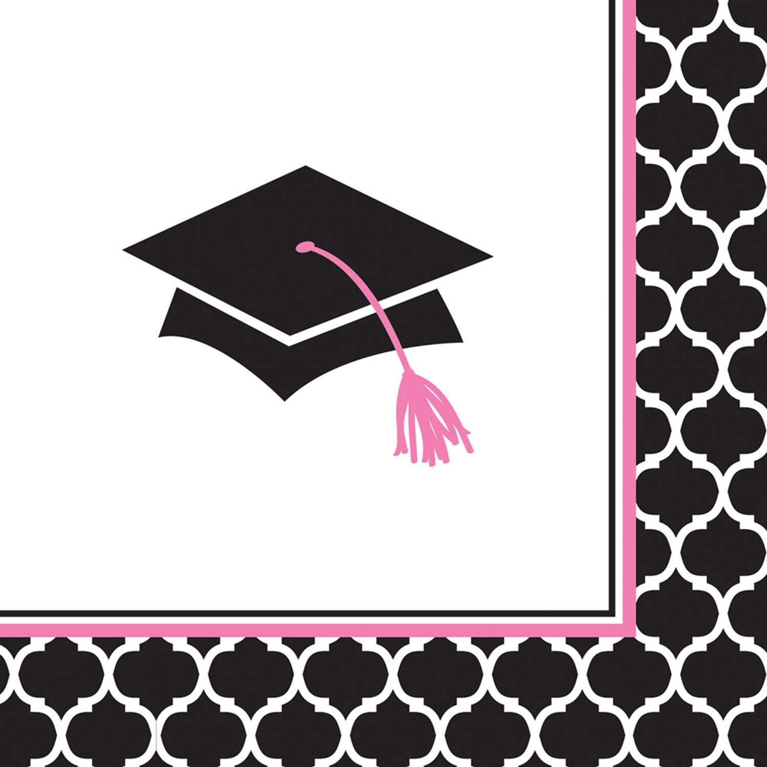 Club Pack of 360 Glamours Grad Graduation Beverage Napkins 5