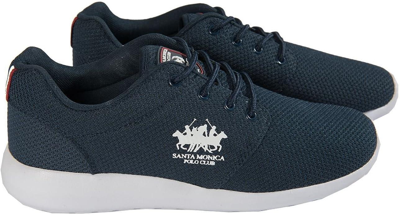 Santa Monica Polo Club Hombre diseñador Marca Zapatillas Cordones ...
