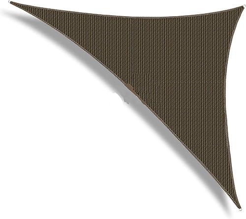 Patio Paradise Sun Shade Sail 18' x 18' x 18' Triangle Canopy