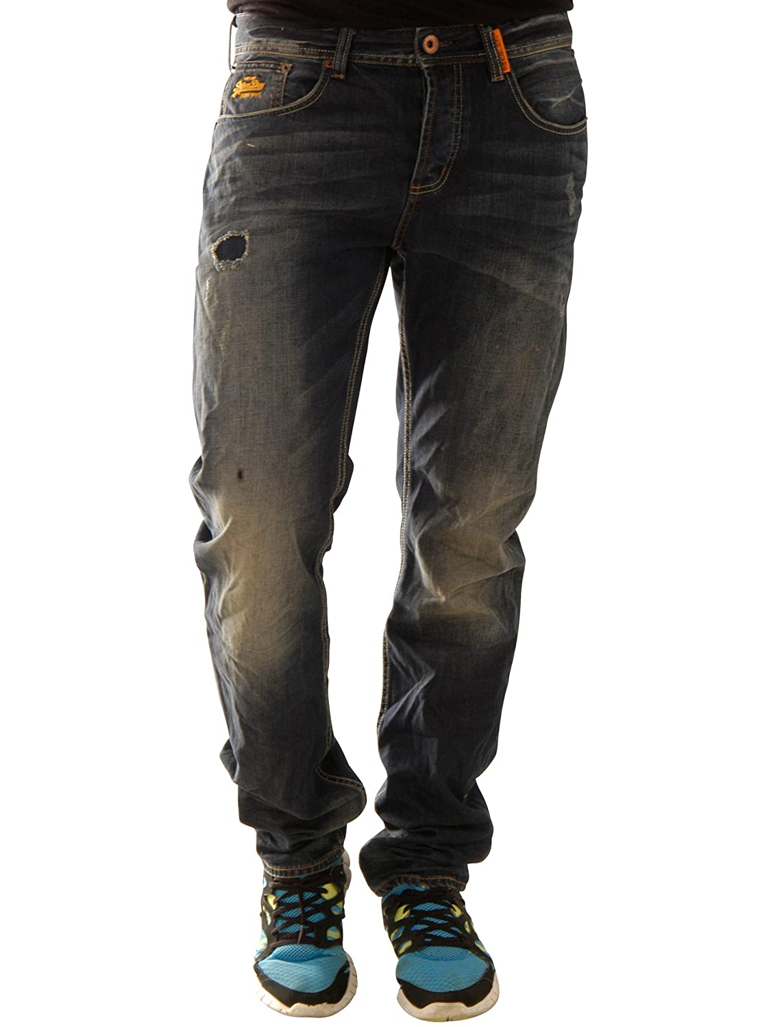 Superdry Herren Jeans Copperfill Loose M70kj001f1-Qcp
