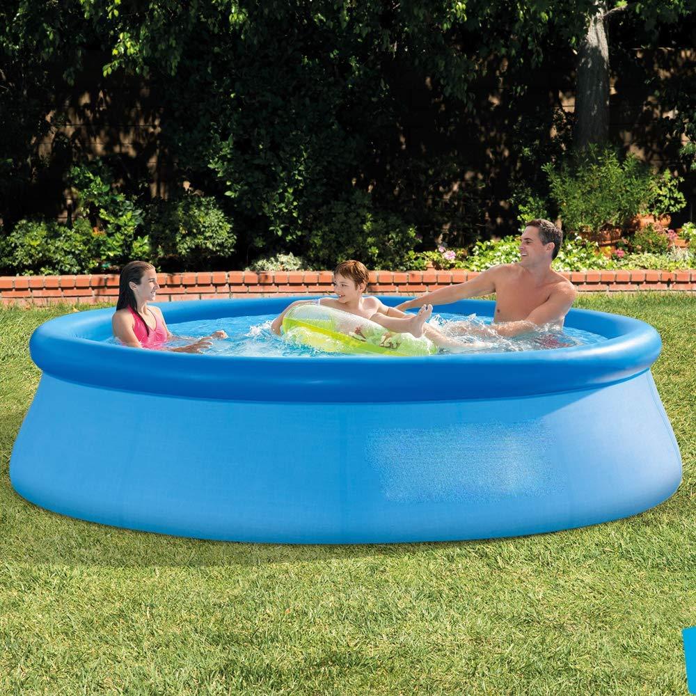大型家庭用プール 1.83x0.51m/2.44x0.76m/3.05x0.76m/3.66x0.76m インフレータブルプール イージーセットプール ファミリープールpvc 三重構造水遊び夏にぴったり  直径3.66m×高0.76m B07RV51DZM